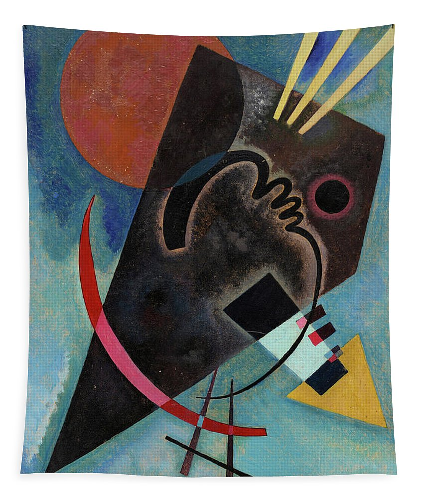 Kandinsky Pointed Tapestry featuring the painting Pointed And Round - Spitz Und Rund by Wassily Kandinsky