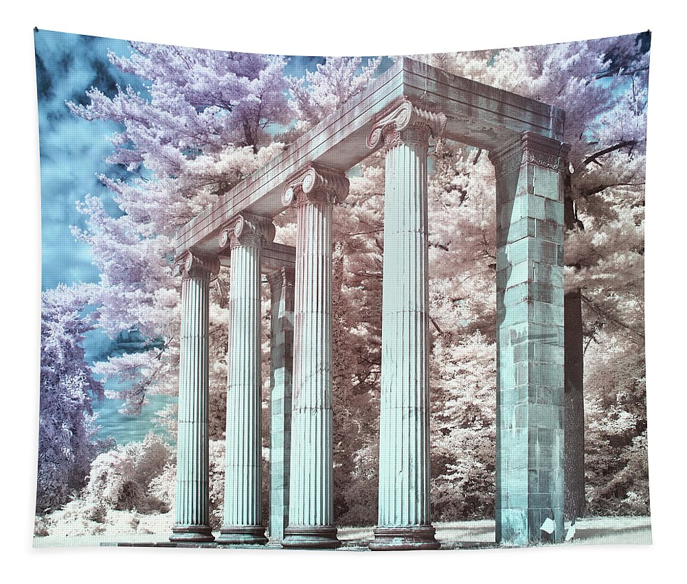 Architecture Tapestry featuring the photograph Princeton Battlefield Monument by Jerry Fornarotto