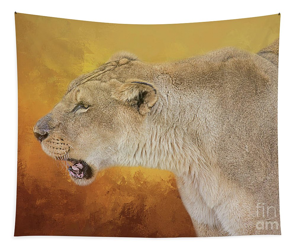 Lioness Tapestry featuring the photograph Queen Of The Desert by Elisabeth Lucas