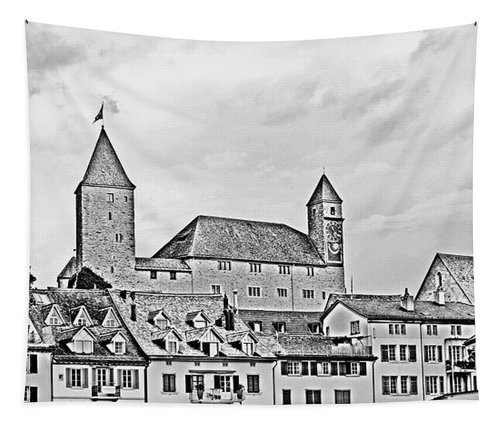 Rapperswil Tapestry featuring the photograph Rapperswil Castle 2 by DiFigiano Photography