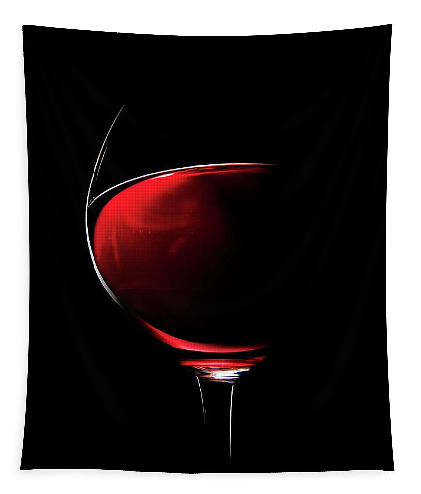 Red Tapestry featuring the photograph Red Wine by Johan Swanepoel