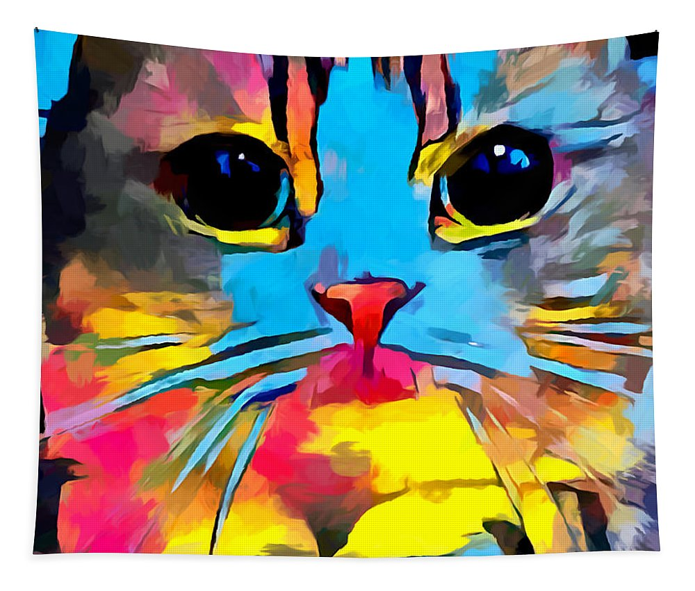 Scottish Fold Tapestry featuring the painting Scottish Fold by Chris Butler