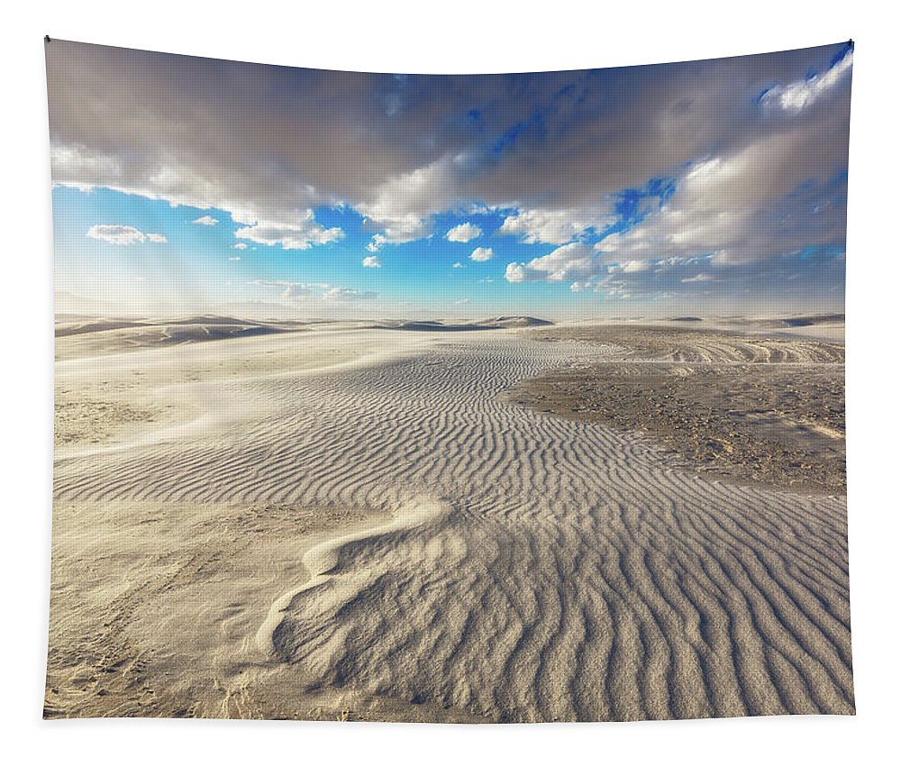 White Sands Tapestry featuring the photograph Sea Of Sand - Endless Dunes At White Sands New Mexico by Southern Plains Photography