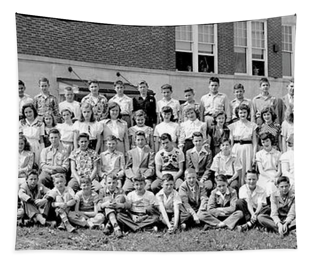 Photography Tapestry featuring the photograph Seventh Grade Class, Woodrow Wilson by Fred Schutz Collection