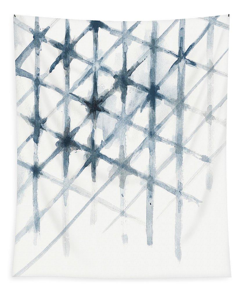 Shibori Tapestry featuring the mixed media Shibori by Patricia Pinto