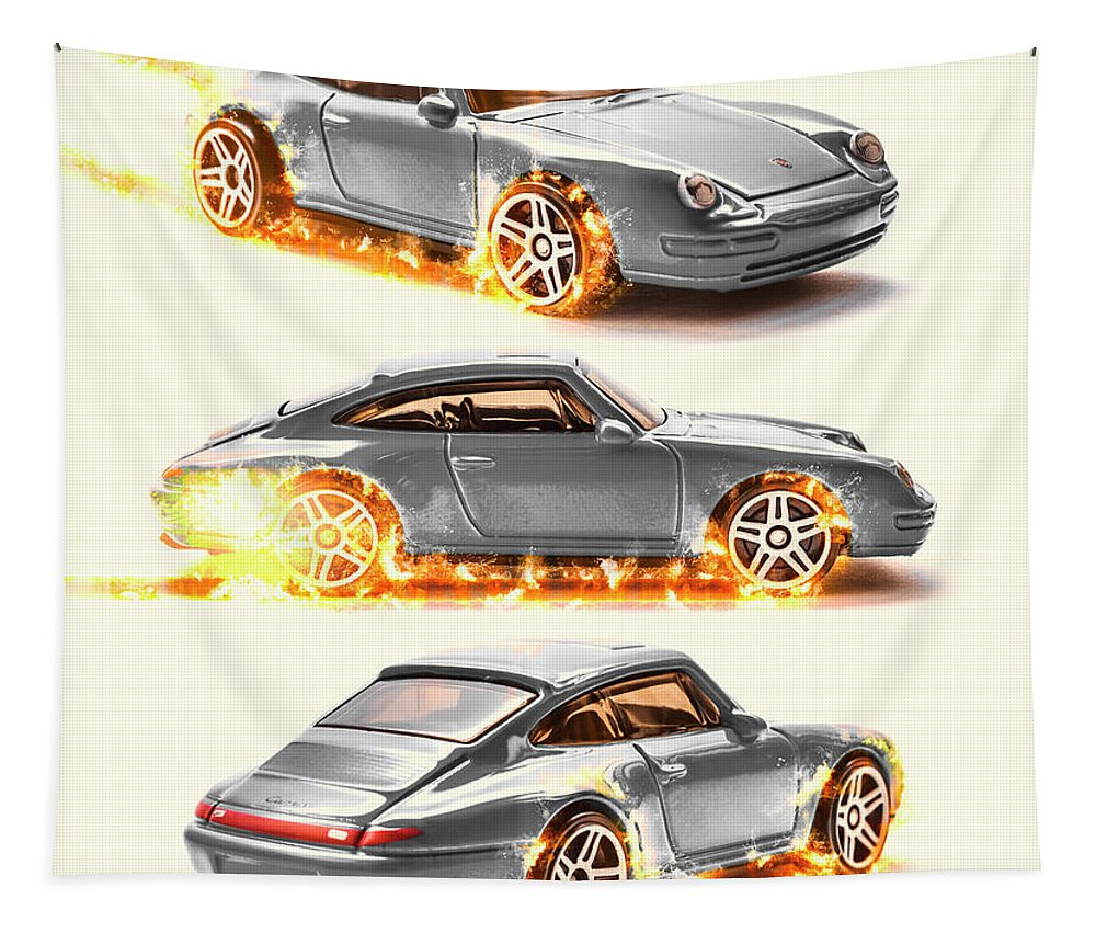 Car Tapestry featuring the photograph Skid Sparks by Jorgo Photography - Wall Art Gallery