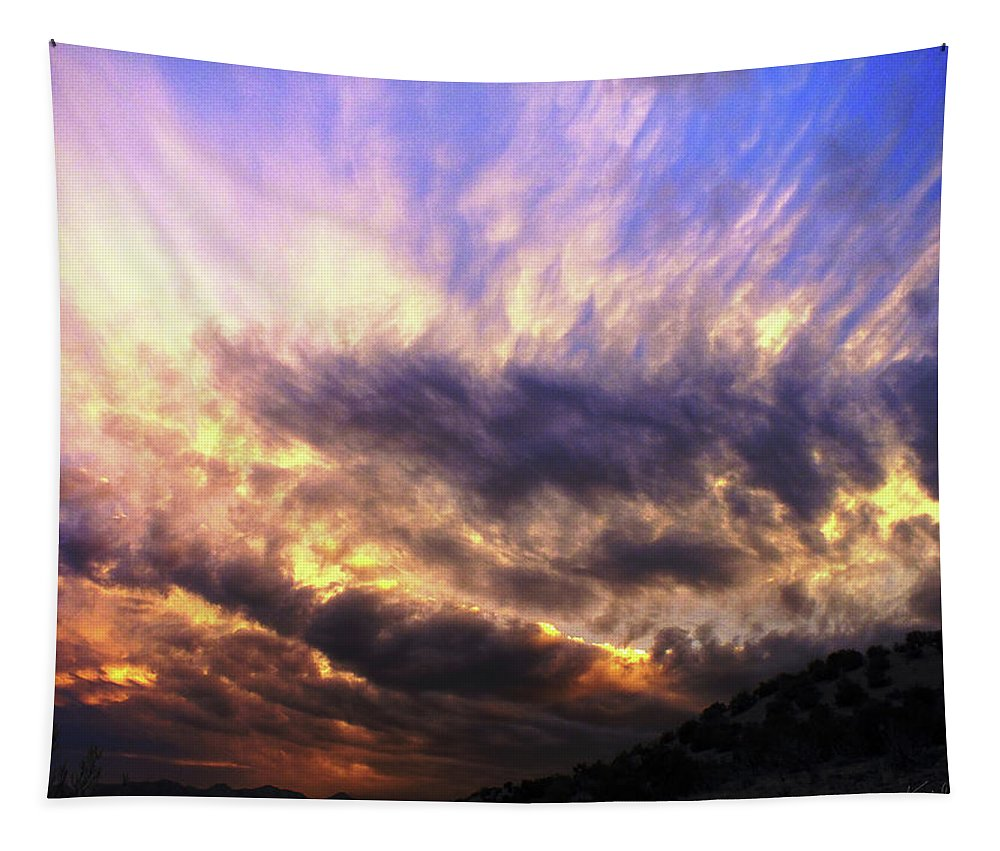 New Tapestry featuring the photograph Sky Burst by Keith Greenfield