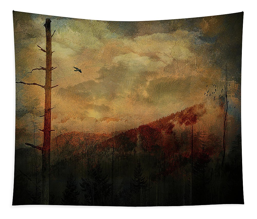 Smoky Tapestry featuring the digital art Smoky Morning by Tim Palmer