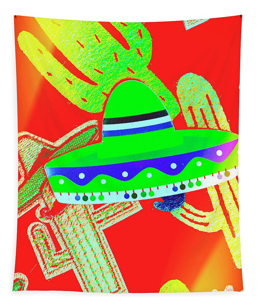 Sombrero Tapestry featuring the photograph Sombrero Salsa by Jorgo Photography - Wall Art Gallery