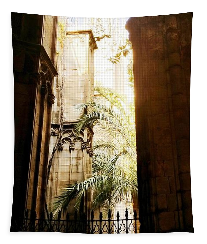 Landscape Spain Buildings Tapestry featuring the photograph Spain by Kathleen Stevens