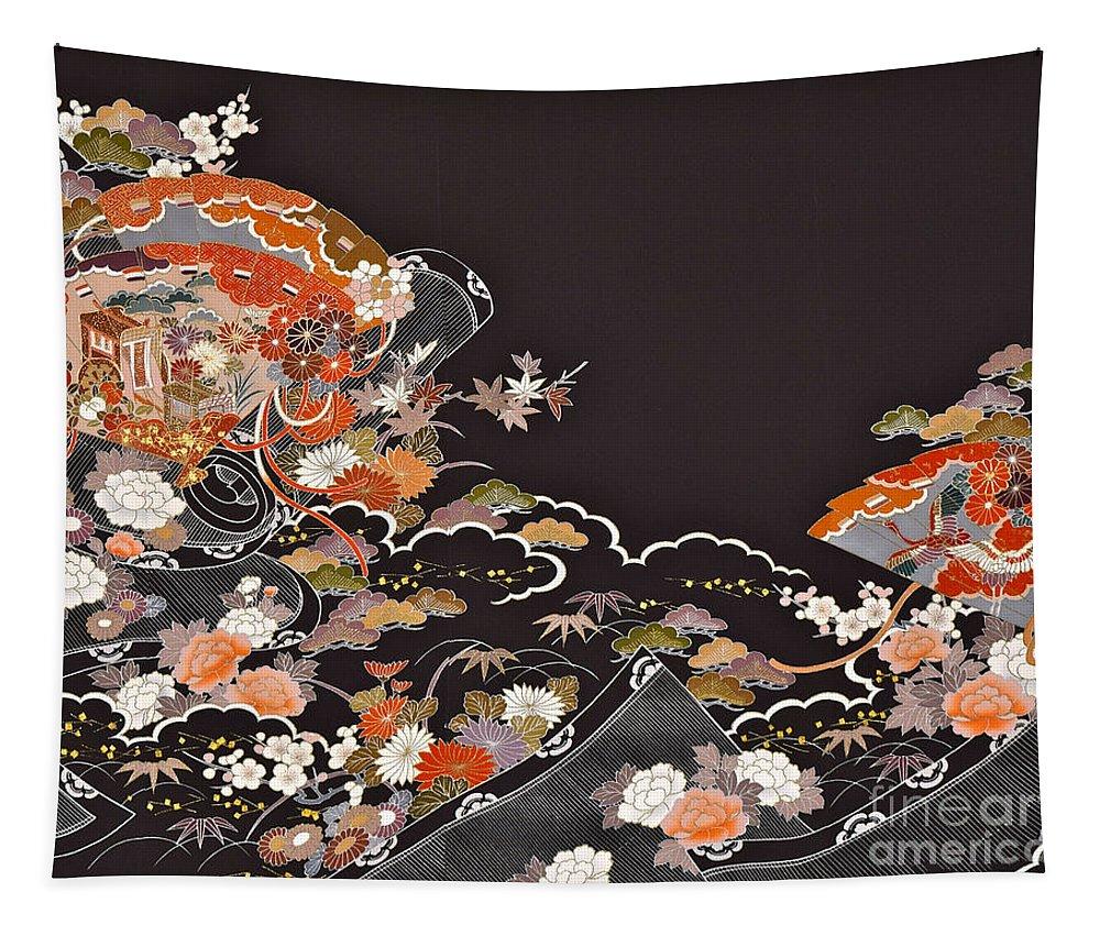 Tapestry featuring the digital art Spirit of Japan T15 by Miho Kanamori