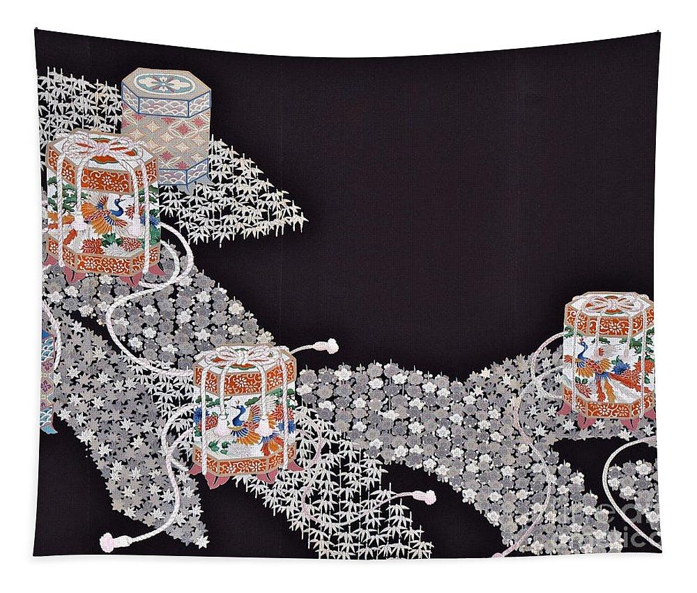 Tapestry featuring the digital art Spirit of Japan T34 by Miho Kanamori