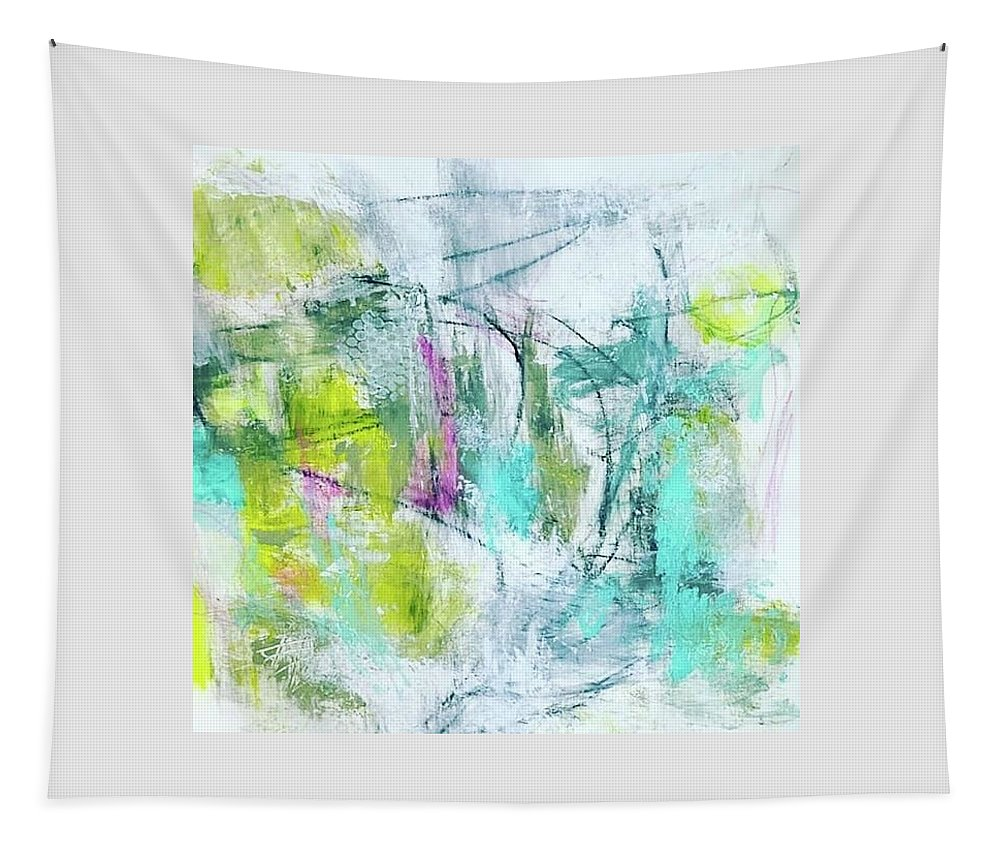 Abstract Tapestry featuring the painting Spring Dance by Patricia Byron