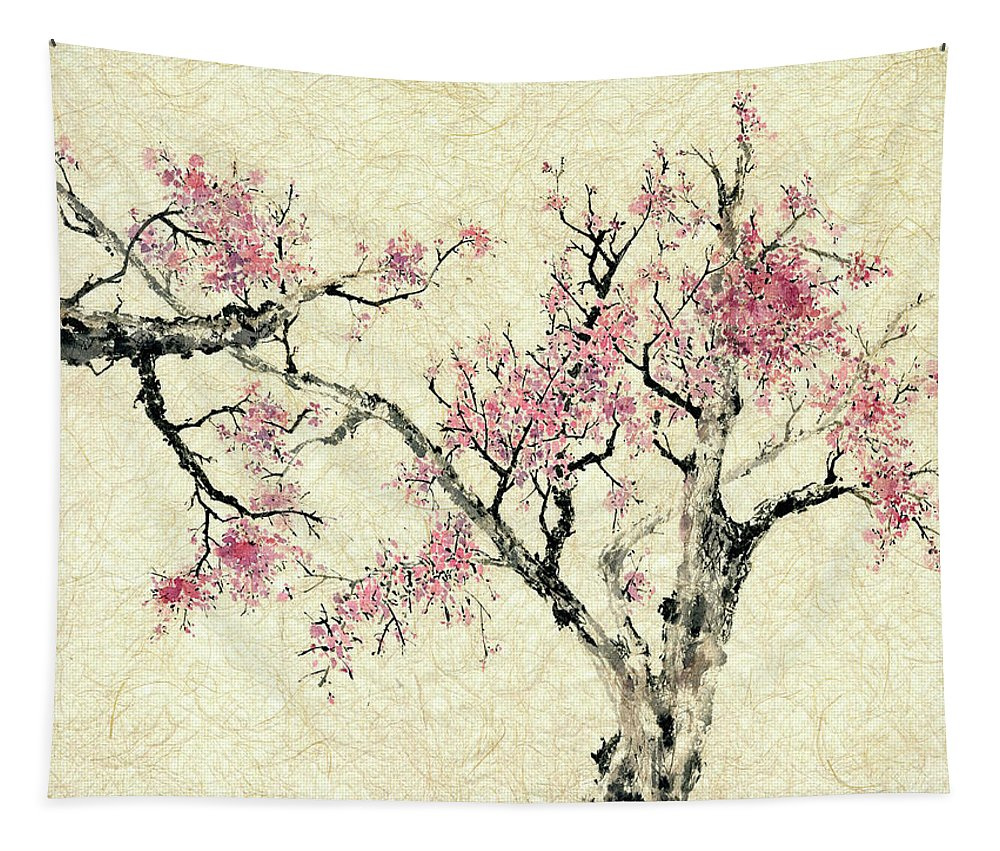 Botanical Tapestry featuring the painting Springtime by Nan Rae