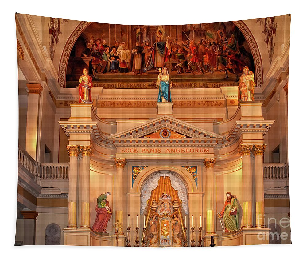 St Tapestry featuring the photograph St. Louis Cathedral Altar New Orleans by Kathleen K Parker