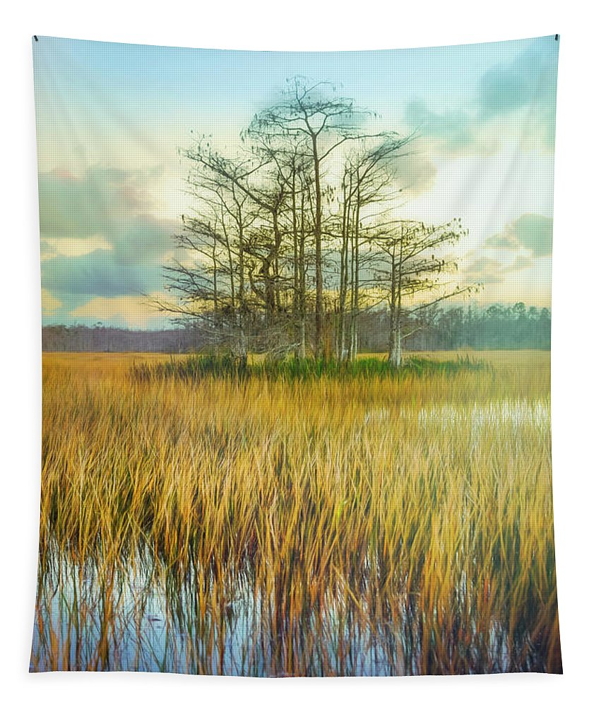 Boats Tapestry featuring the photograph Standing On The Edge Of Evening by Debra and Dave Vanderlaan
