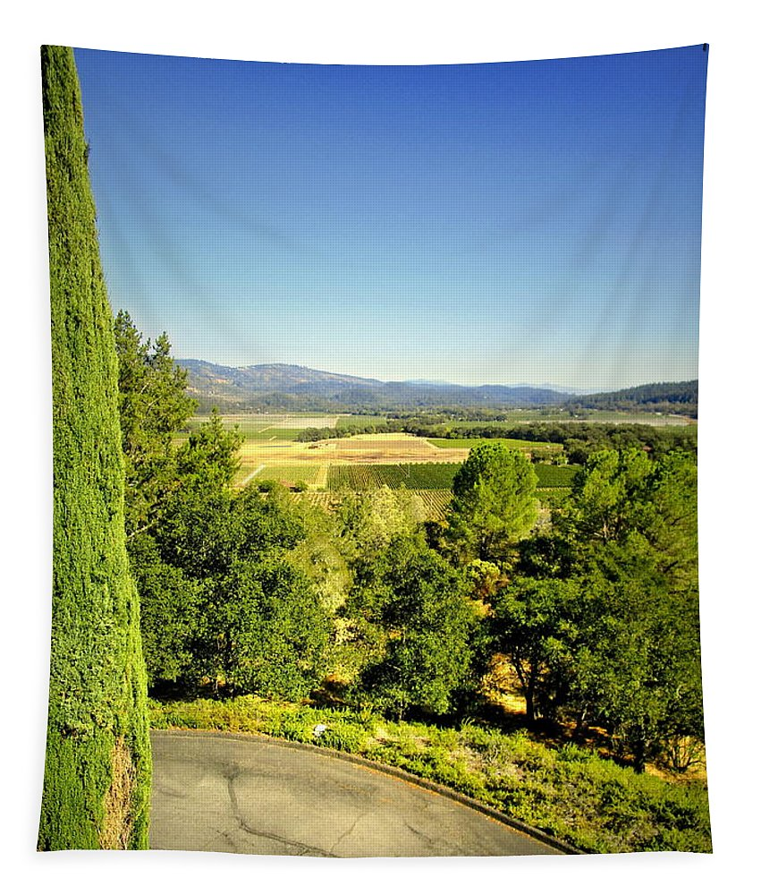 Sterling Tapestry featuring the photograph Sterling Vineyards 1 by Joyce Dickens