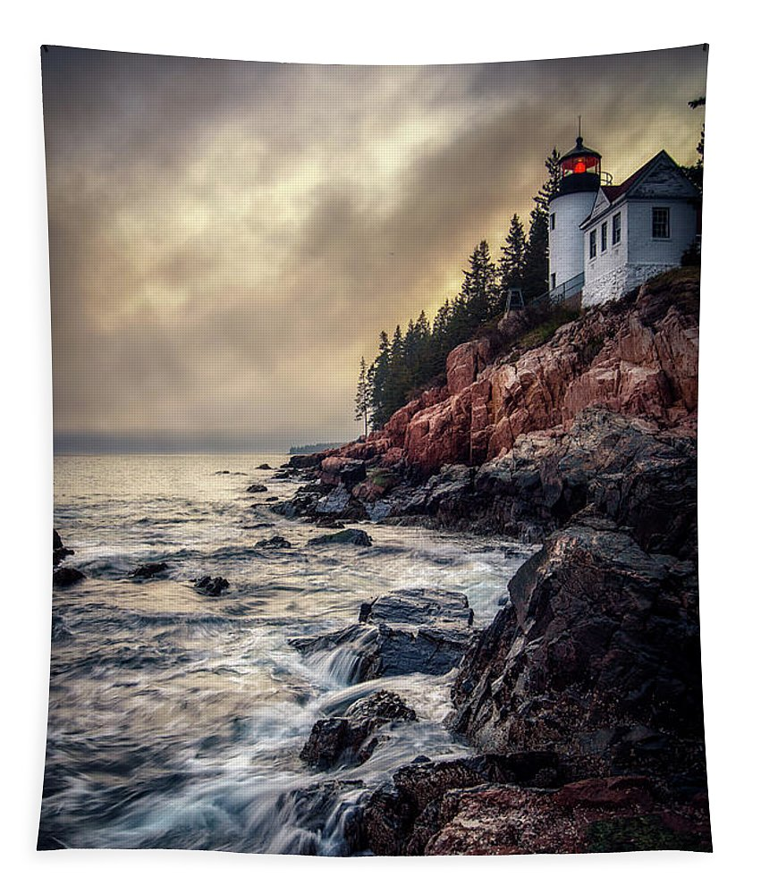Bass Harbor Tapestry featuring the photograph Still The Same by Scott Thorp