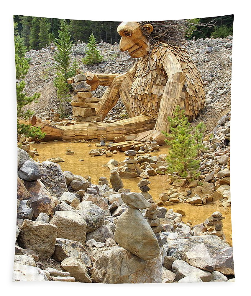 Tapestry featuring the photograph Stone Stacking by Fiona Kennard
