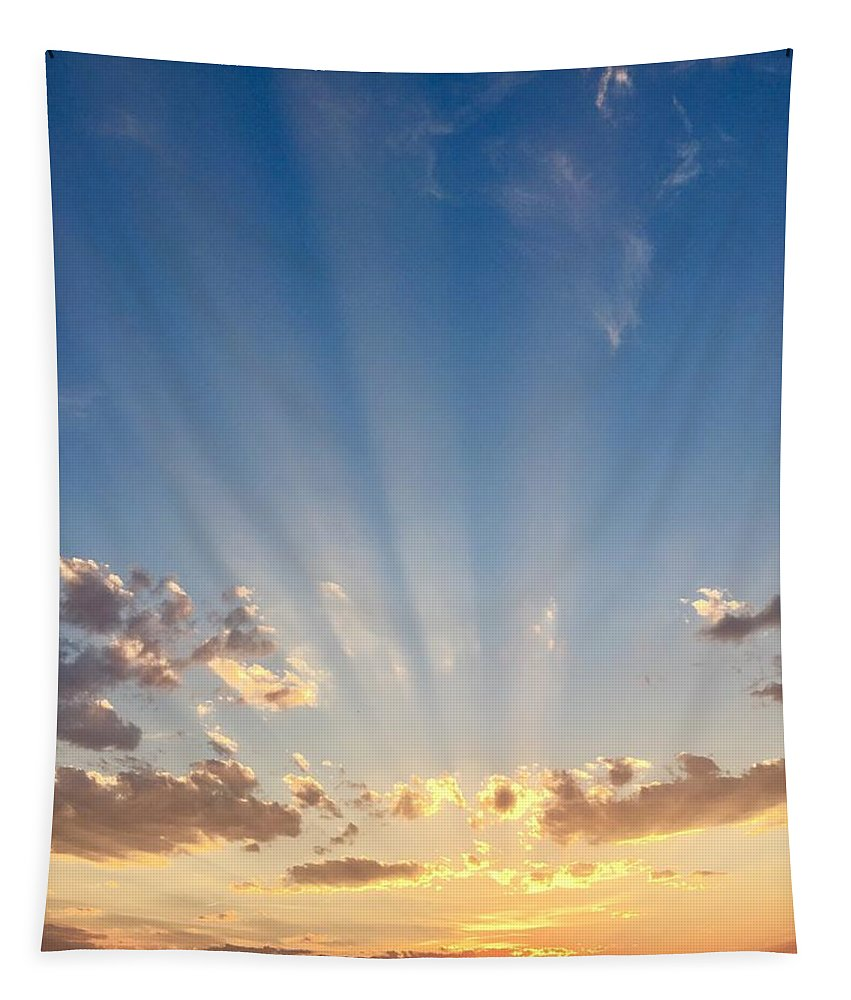 Sunset Tapestry featuring the photograph Stunning Colorado Sunset by Richard Bryce and Family
