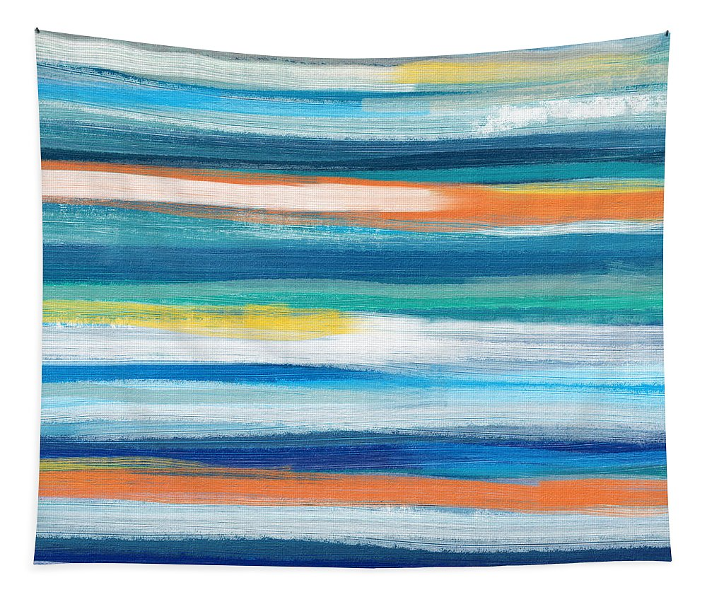 Beach Tapestry featuring the painting Summer Surf 3- Art by Linda Woods by Linda Woods