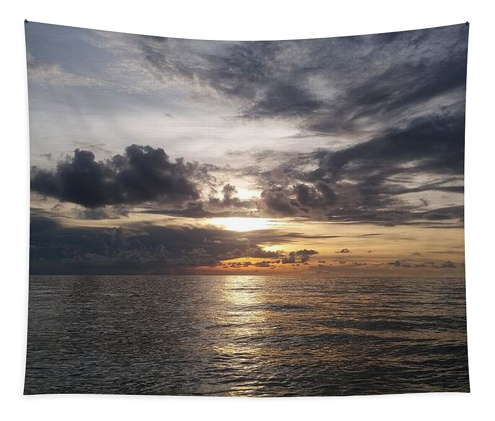 Sunset Tapestry featuring the photograph Sunset by Cora Jean Jugan