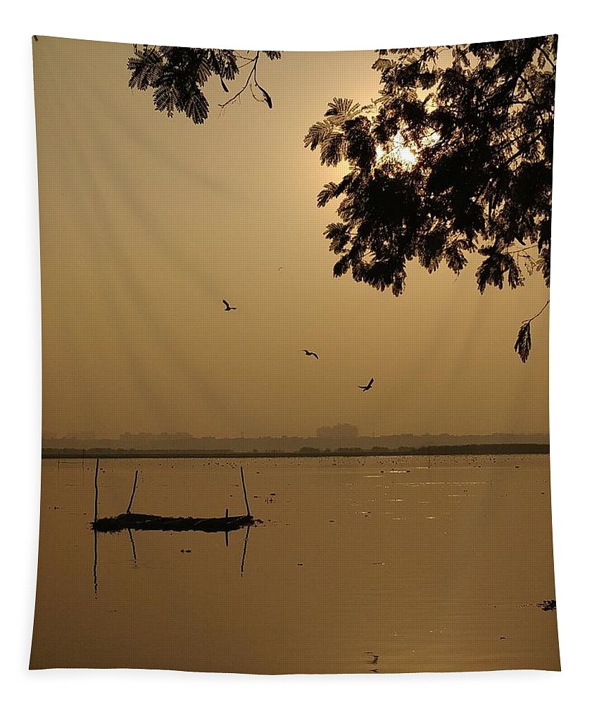 Sunset Tapestry featuring the photograph Sunset by Priya Hazra