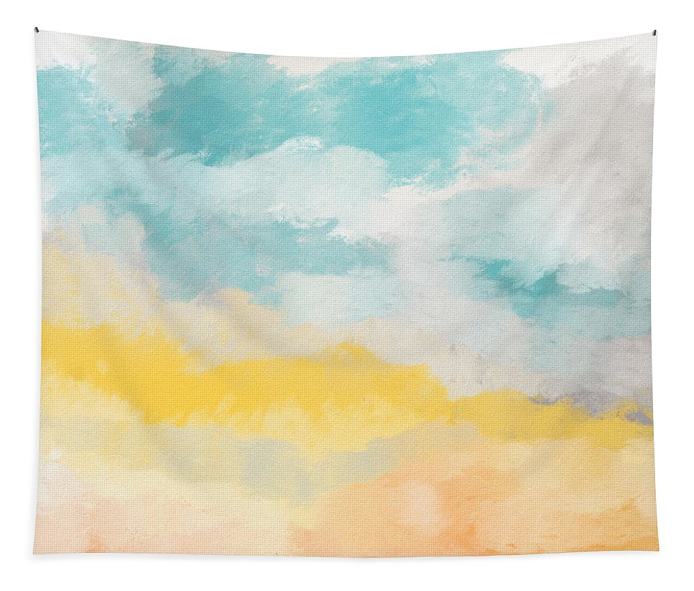 Landscape Tapestry featuring the mixed media Sunshine Day- Art by Linda Woods by Linda Woods