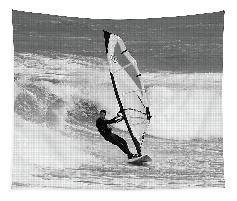 Surfer Tapestry featuring the photograph Surfer by Mark Starren