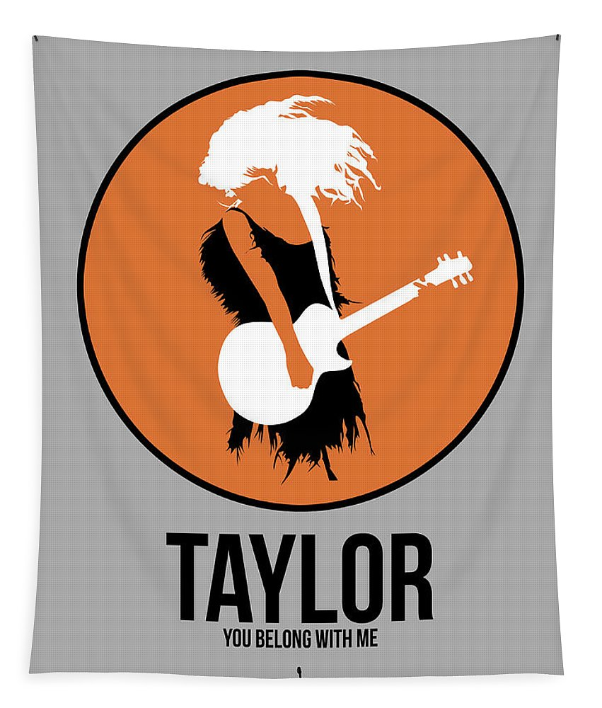 Tapestry featuring the digital art Taylor Swift by Naxart Studio