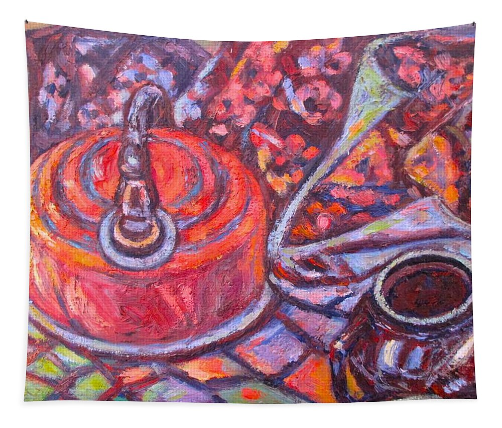 Still Life Tapestry featuring the painting Tea Time by Kendall Kessler