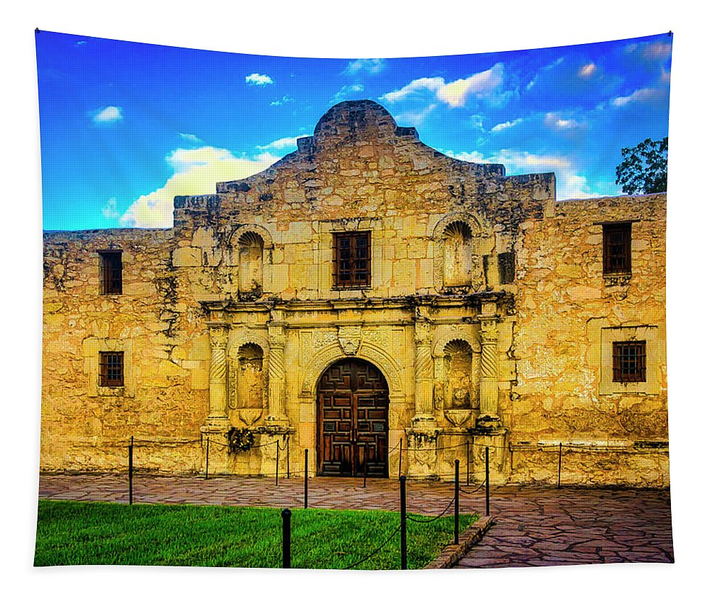 The Alamo Tapestry featuring the photograph The Alamo Mission by Garry Gay