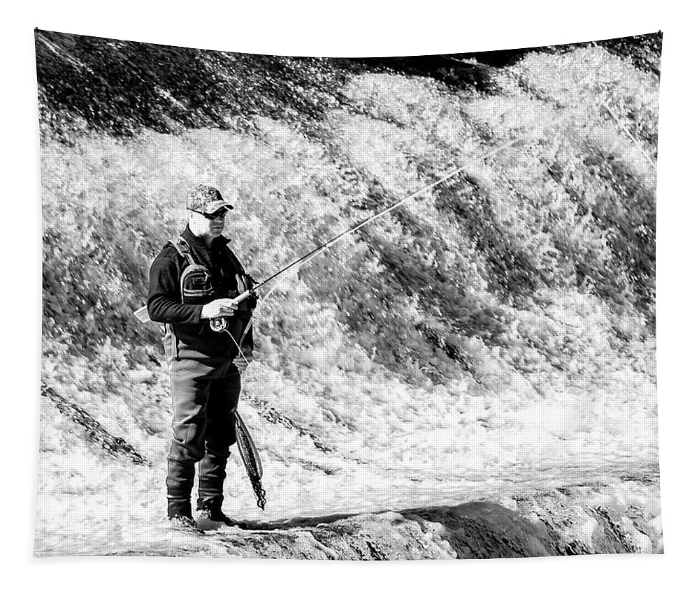 Fishing Tapestry featuring the photograph The Angler by Annette Persinger