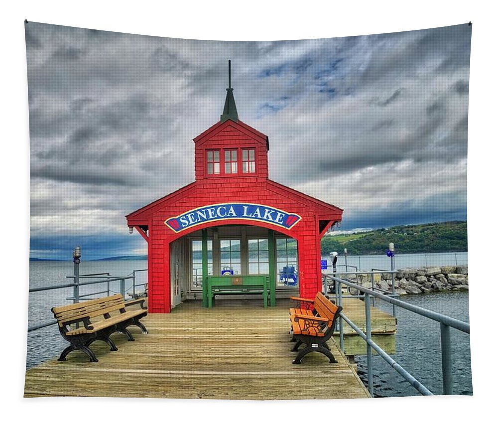 Seneca Lake Tapestry featuring the photograph The Charm Of Seneca Lake - Finger Lakes, New York by Lynn Bauer