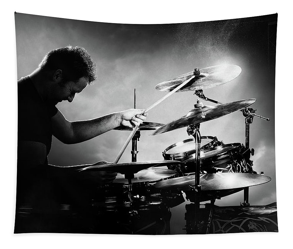 Drummer Tapestry featuring the photograph The Drummer by Johan Swanepoel