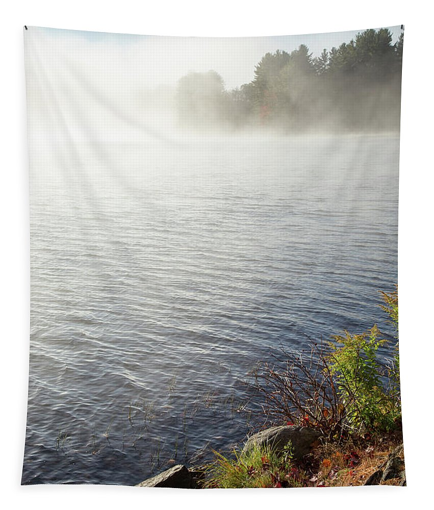 Morning Speaks Tapestry featuring the photograph The Fog Rolls by Karol Livote