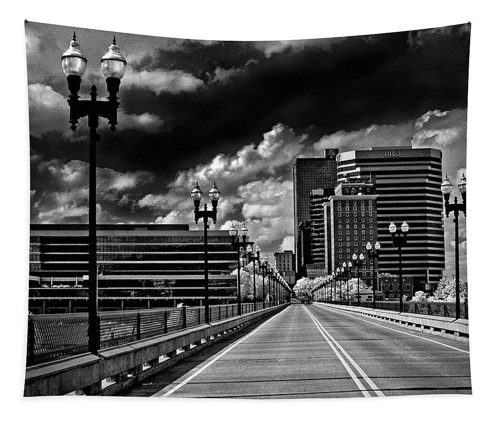 Infrared Tapestry featuring the photograph The Knoxville Gay Street Bridge by Paul W Faust - Impressions of Light