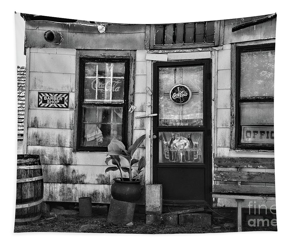 Paul Ward Tapestry featuring the photograph The Old Country Store Black And White by Paul Ward
