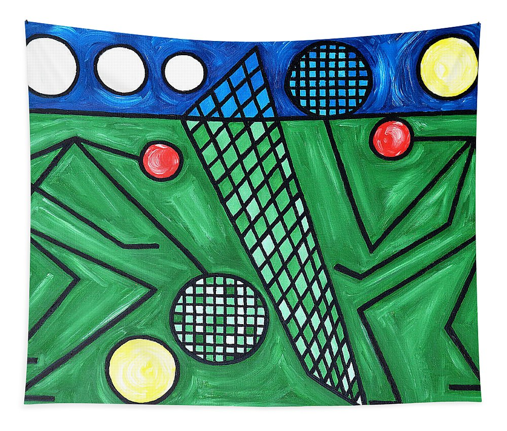 Sport Tapestry featuring the painting The Tennis Match by Patrick J Murphy