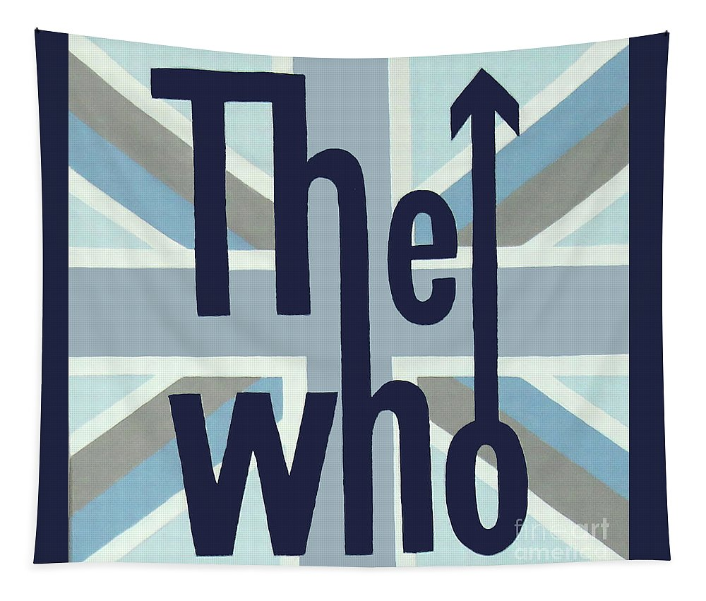 The Who Tapestry featuring the painting The Who by Amy Belonio