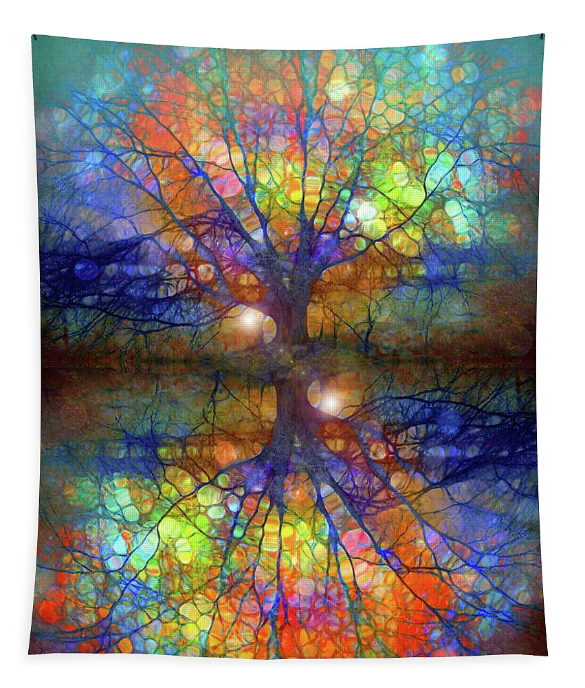 Trees Tapestry featuring the digital art There Is Light Even In These Dark Roots by Tara Turner