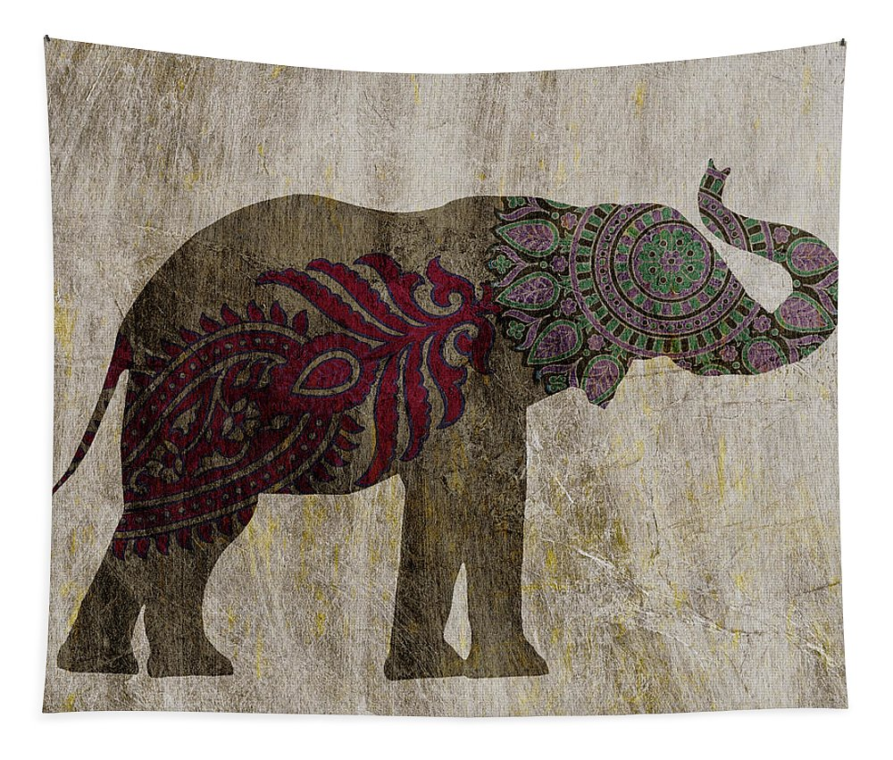 Asian Tapestry featuring the painting Treasured Icon Iv by Sharon Chandler
