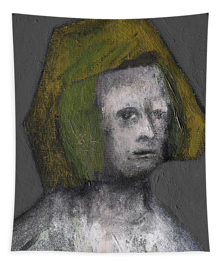Tudor Tapestry featuring the painting Tudor Portrait by Edgeworth DotBlog