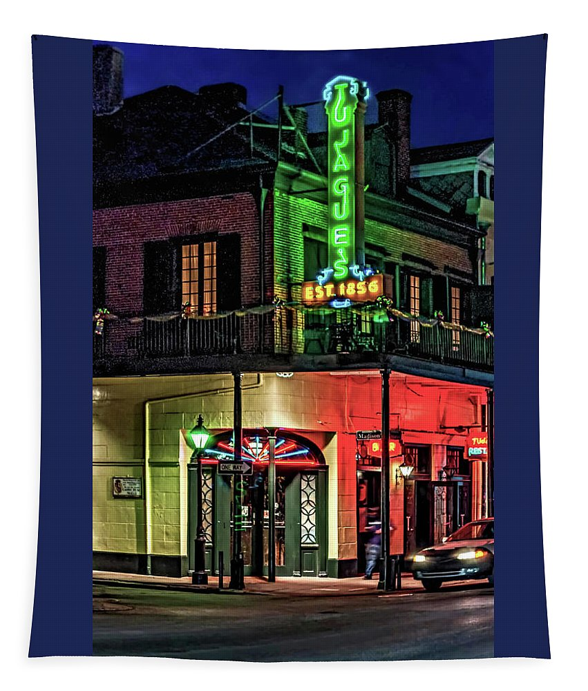 French Quarter Tapestry featuring the photograph Tujague's by Steve Harrington