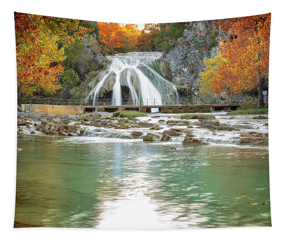 Nature Tapestry featuring the photograph Turner Falls 43 by Ricky Barnard