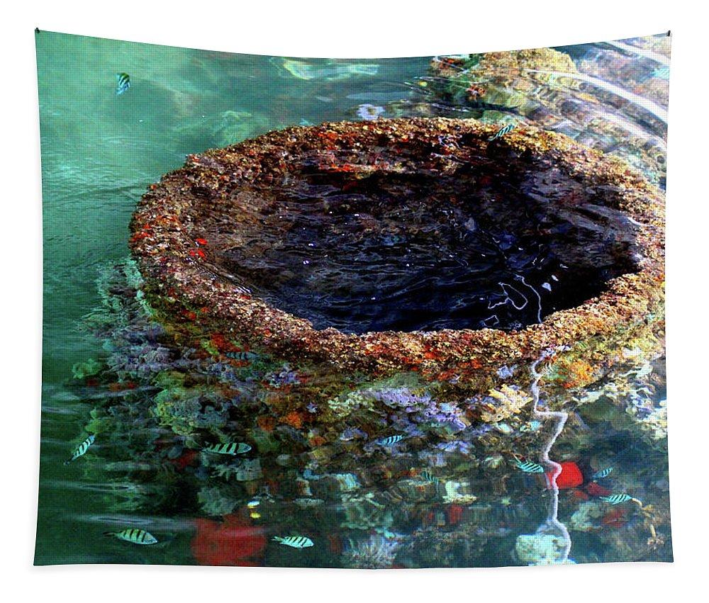 Ship Tapestry featuring the photograph Uss Arizona New Purpose by Kathleen Dobrowolski