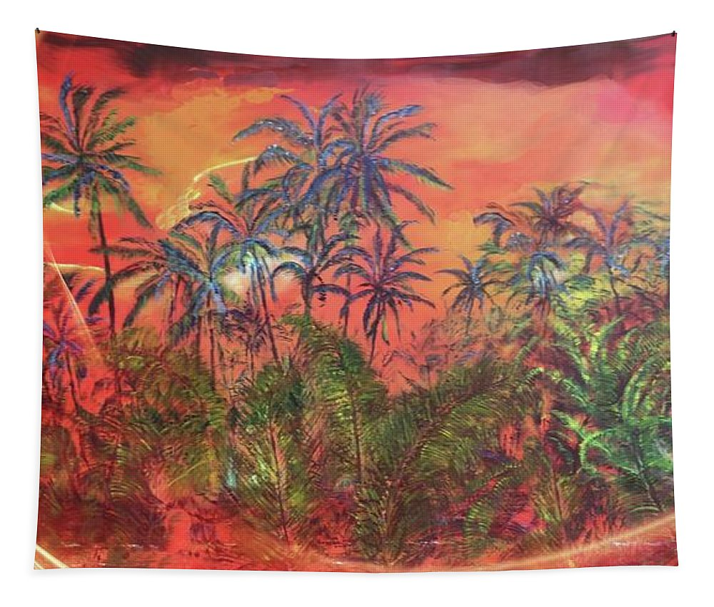 Lava Painting Tapestry featuring the painting Array Of Hope by Michael Silbaugh
