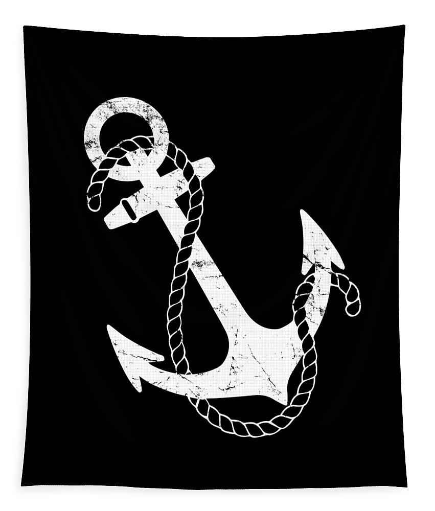 Cool Tapestry featuring the digital art Vintage Nautical Anchor by Flippin Sweet Gear