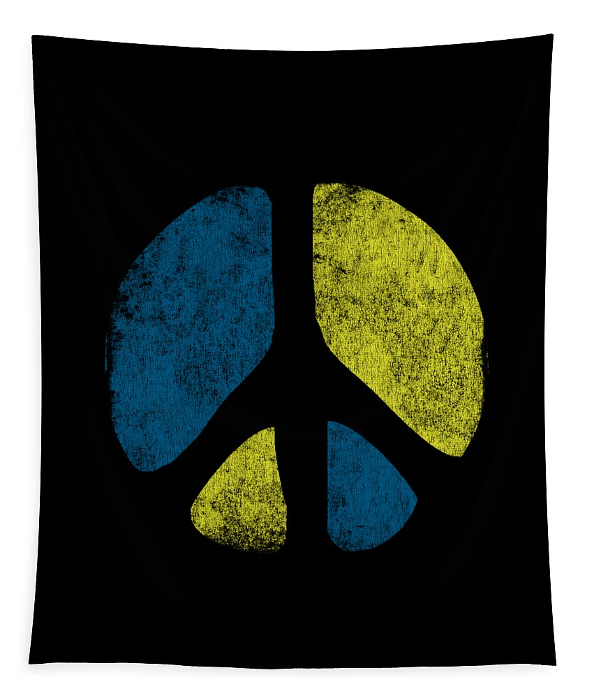 Cool Tapestry featuring the digital art Vintage Peace Sign by Flippin Sweet Gear