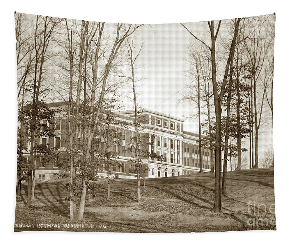 Walter Reed General Hospital Tapestry featuring the photograph Walter Reed General Hospital Dec. 2, 1924 by California Views Archives Mr Pat Hathaway Archives